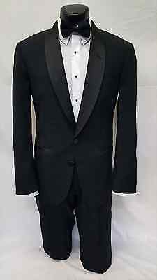 48 L Black Tuxedo Dinner Jacket Formal Classic Tie Complete Package Set TUXXMAN