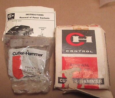 Cutler Hammer Contact Renewal Kit 6-25-2 Citation USA OEM 3pole Size 3 New NOS