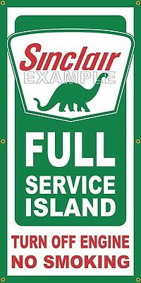 Sinclair Gas Station Full Service Island Old School Sign Remake Banner Art 2 X 4