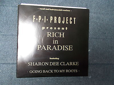 """FPI Project Featuring Sharon Dee Clarke Rich In Paradise 12"""" Rumour 1989"""