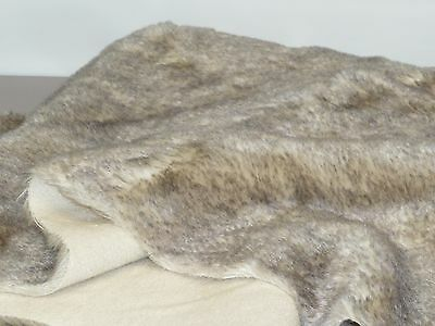 "19"" x 45"" Gray Tipped Off-White Short German Mohair Teddy Bear Fabric"
