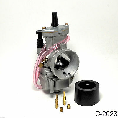 New Performance Carburetor for 34MM 2 Stroke Racing Flat Side Part Carb