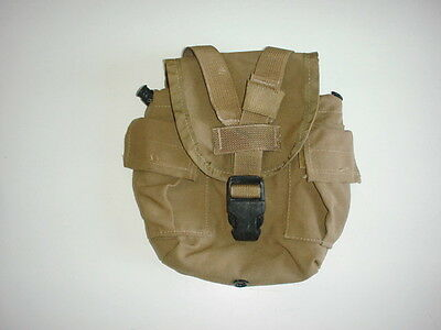 US MARINES original issue 1QT molle COYOTE canteen cover used nice condition