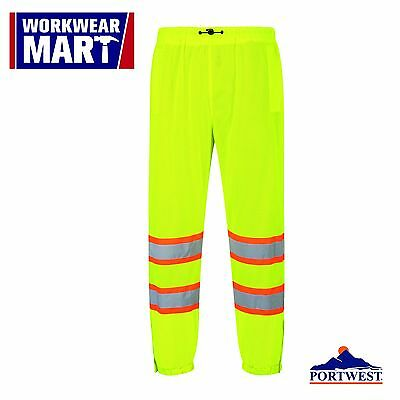 Hi-Vis Mesh Pants Safety Work High-Visibility Over Trosers ANSI,  Portwest US386