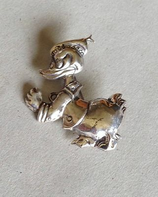 Classic Vintage Sterling Silver Disney Donald Duck Pin / Pendant ~ Estate ~ WOW