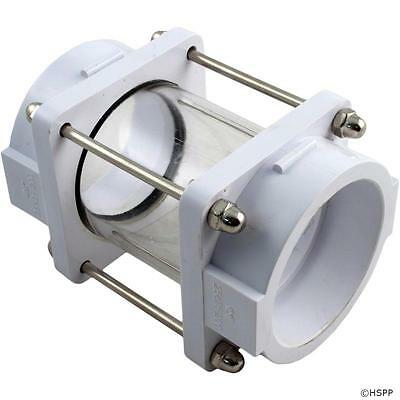 """Pool Pump or Filter In-Line Sight Glass 2"""" Slip PVC SP1074S"""