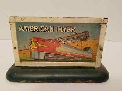 American Flyer Whistle Billboard w/Dark Green Base