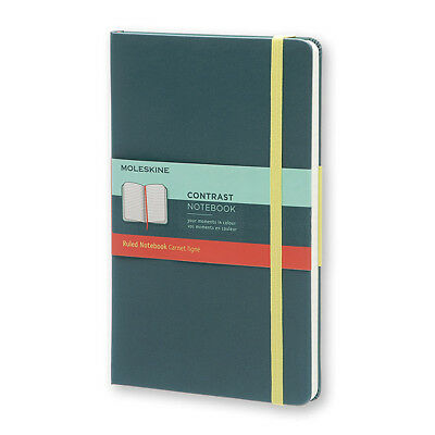 NEW Moleskine Contrast Ruled Seaweed Green Large Notebook