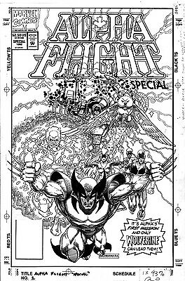 Alpha Flight Special Vol 2 #1 Cover Art by Pat Broderick Wolverine