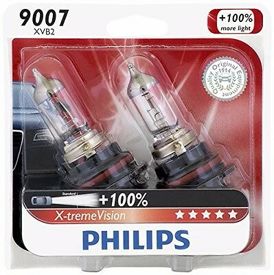 2x Philips 9007 HB5 X-tremeVision Upgrade Headlight 100% More Light Bulb 65W