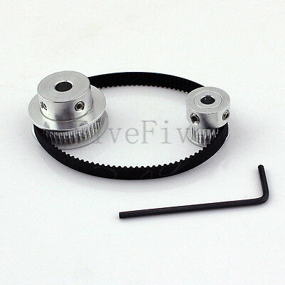 GT2 40/20 Teeth Pitch-2mm W-6mm Timing Pulley Belt set kit Reducer Ratio 2:1