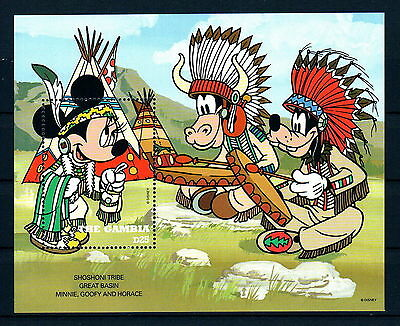 X0 Disney 126 The Gambia SC# 1712 Cowboys and Indians MNH S/Sheet