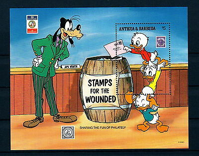X0 Disney 011 Antigua & Barbuda SC# 1247 Stamps for the Wounded MNH S/Sheet