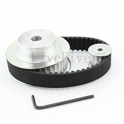 HTD 5M 36/12 Tooth Width 16mm Timing Pulley Belt set kit Reduction Ratio 3:1