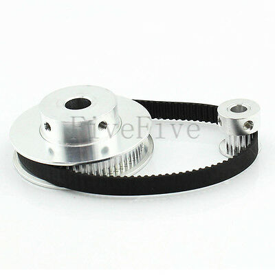 GT2 60/15 Teeth Width 6.5/7mm Timing Pulley Belt Set Kit Reduction Ratio 4:1