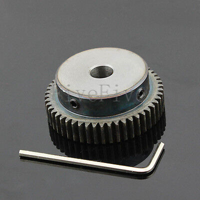 6/8/10mm Bore Hole 50T Width 10 Module 1 Motor Metal Spur Gear + Screws