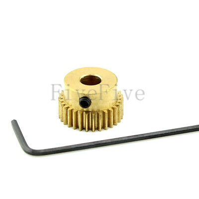 3/4/5/6mm Bore Hole 30T Width 5 Module 0.5 Motor Metal Spur Gear + Screws