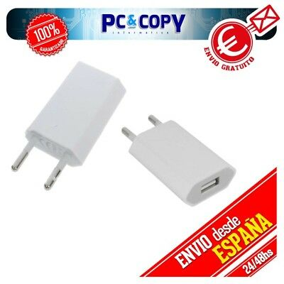 Pack 10 Cargadores Corriente Usb De Pared Universal Movil Smartphone Blanco 5V 1