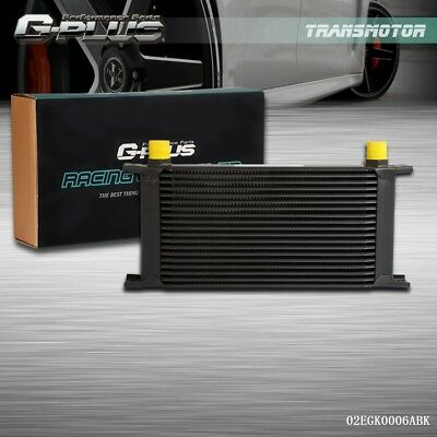 Universal 19 Row An-10an Universal Engine Transmission Oil Cooler Black