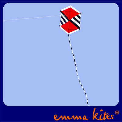 New 1.35M Rokkaku Kite THE RED Classic Designed from EMMAKITES for Kids Fun Toys