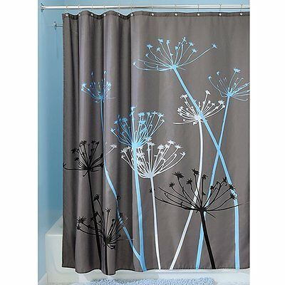 Dandelion Fabric Shower Curtain 72 x 72-Inch Gray Patoral Style