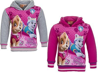 Girl's Official Paw Patrol Fleece Lined Hoodie  /  Hooded Top 2-6 Yrs