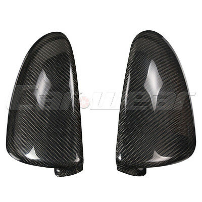 Carbon Fiber Side Rearview Mirror Cover Cap for Benz Smart Fortwo 09-14 Sticker