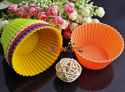 Useful Silicone Muffin Cup Model Mould Cupcake Sugarcraft Pastry Baking Mold Hot