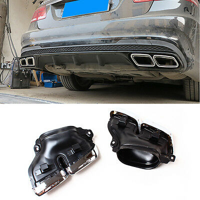 Rear Exhaust Tips Muffler Pipe for New Mercedes Benz W212 W222 E63 S63 AMG 2014+