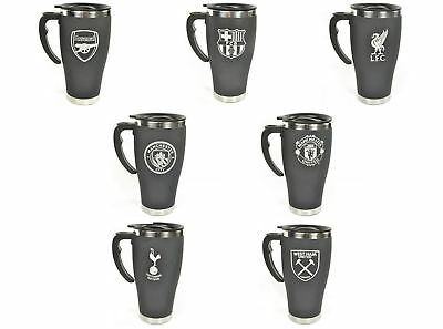 Football Club Team Black Chrome Travel Coffee Gift Mug Stainless Steel Official