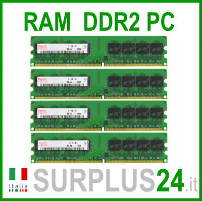 HYNIX RAM 4Gb (4x1Gb) PC2-5300U DDR2-667Mhz 240pin Memoria x DESKTOP No Ecc