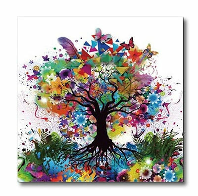 Wall Art Tree of Life Colorful White Acrylic Print Painting Hanging 80cm 3972