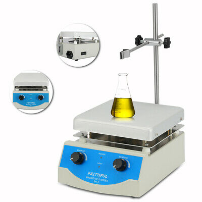 SH-3 Hotplate Stirrer,17x17cm Anodised Top Plate Magnetic Stirrer with Heating