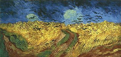 Wheat Field with Crows by  Vincent van Gogh poster art print. 60X130 cm