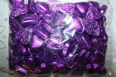 Andre Milk Chocolate Hearts PURPLE COLOR 400g approx 50 Pieces Bag