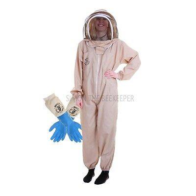 Buzz Basic Beekeepers Suit With Fencing Veil And Latex Gloves - Khaki • EUR 28,58