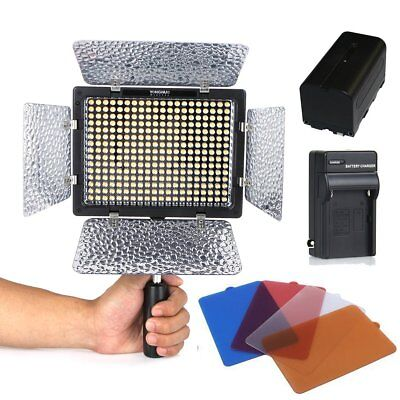 Yongnuo YN-300 II LED Camera Video Light 3200-5500k+4400mAh NP-F750 Battery kit