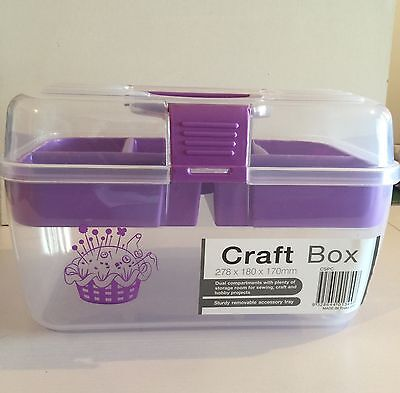 SEWING craft BOX  WITH COMPARTMENTS