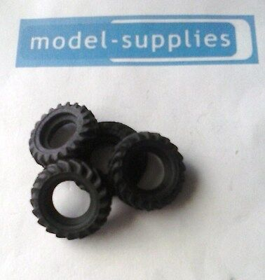 Corgi reproduction black  treaded rubber tyres for Unimog (set of 4)