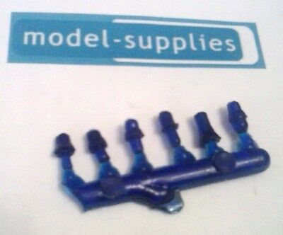 Set of 6 transparent blue plastic beacons for restoring die cast models