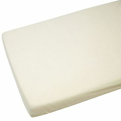 100% Cotton Jersey Baby Cot Fitted Sheet 2 Pack Cream 60cm x 120cm