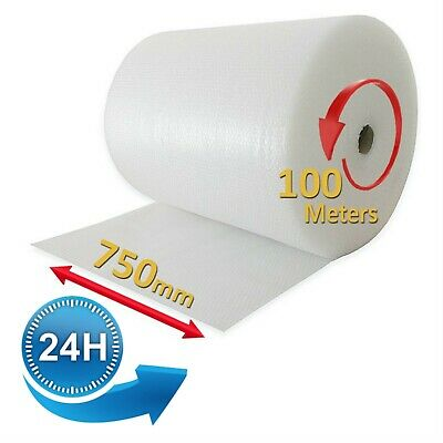 Bubble Wrap Roll 750mm x 100M Small Bubble Wrapping Packing Material Packaging