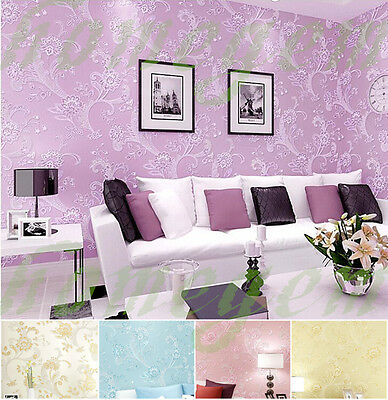 3D Country Romantic Flower Wallpaper Rolls Patterned Wall Decoration Paper-4 pik