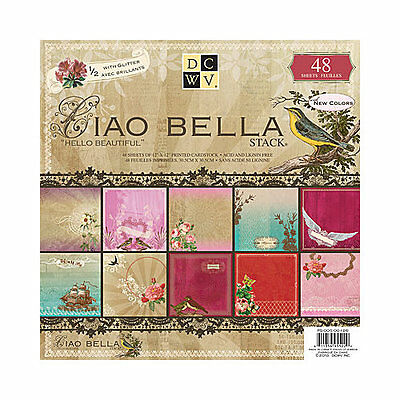 Die Cuts With View 12x12 CIAO BELLA Paper Stack 48 Sheets PS-005-00126 R