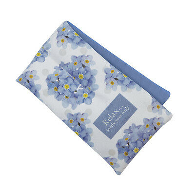 Aroma Home Soothing Forget Me Not Scented Microwaveable Floral Cotton Body Wrap