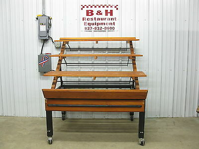 "Marco Company 48"" Adjustable 3 Shelf Wood Bakery Bread Donut Pastry Display Rack"