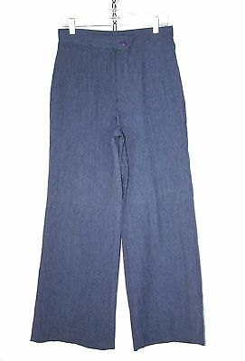 Womens Vintage 70's HIGH WAIST Trousers WIDE LEG Dress Pants / M or 30x31 /075