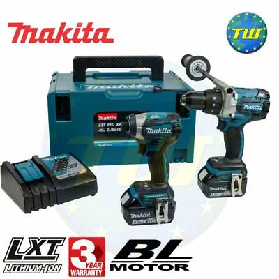 Makita DLX2176TJ 18V BRUSHLESS Combi Drill & Driver Twinpack 2x 5.0Ah Batteries
