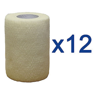 CMS Medical Self Adhesive Cohesive Bandage 7.5cm White Sport Support Tape x12