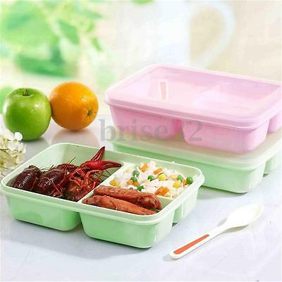 New Portable Microwave Lunch Box Picnic Bento Food Container Storage+Spoon